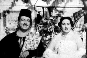 أنور وجدي وليلى مراد في مشهد من فيلم ليلى بنت الفقراء