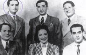صورة تذكارية فريد وأسمهان أحمد بدرخان بديع خيري محي الدين مدكور 4